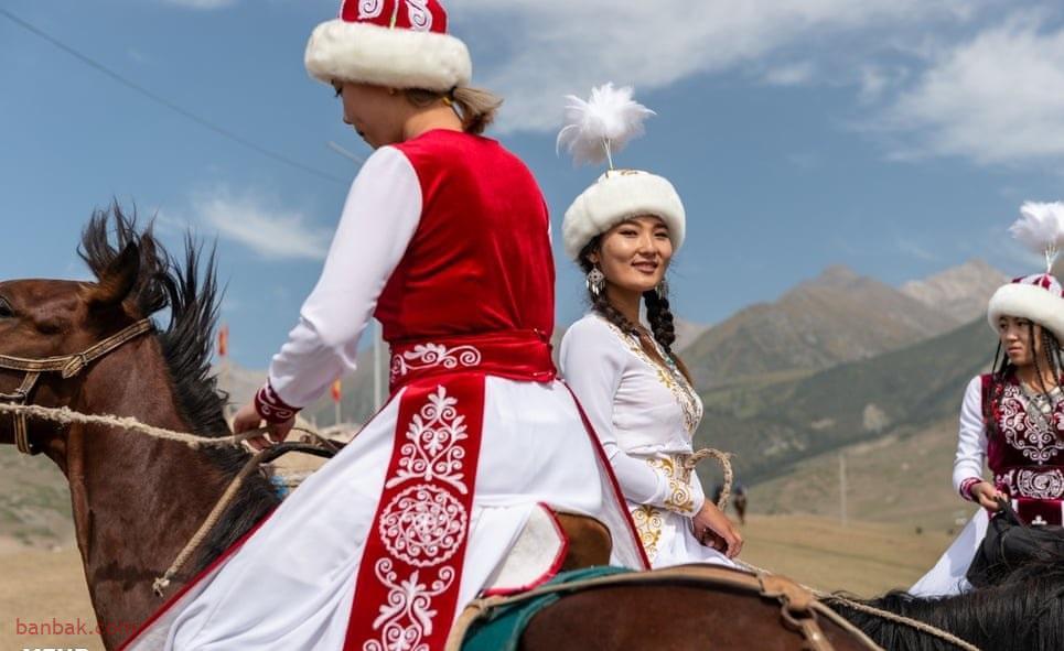 گزارشی از مسابقات زنان چادر نشین در قرقیزستان