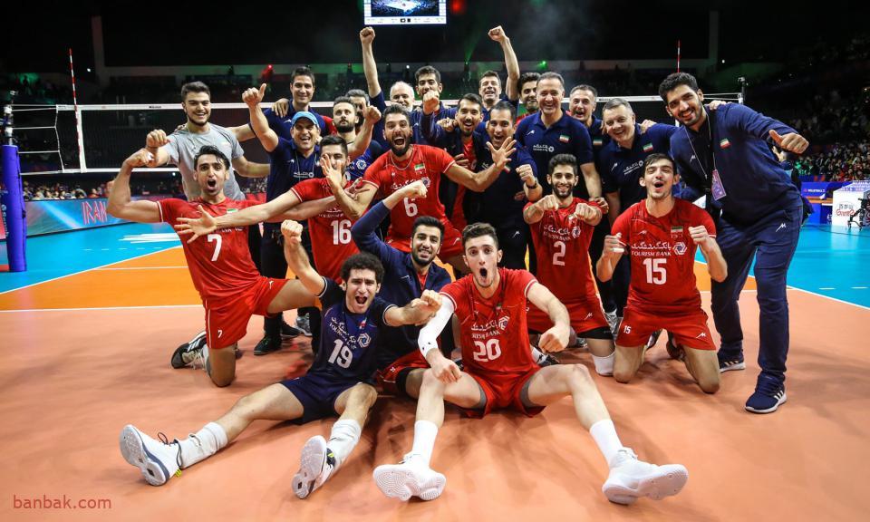 وباز هم شگفتی آفرینی از تیم ملی والیبال ایران.